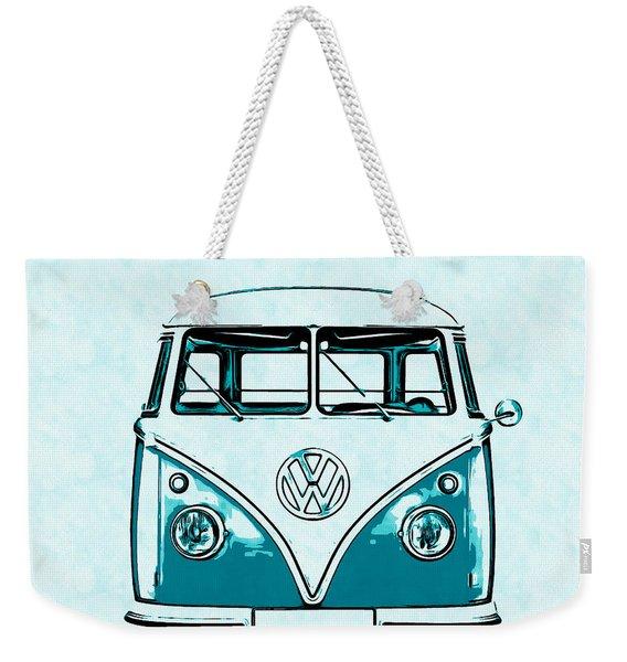 Vw Van Graphic Artwork Weekender Tote Bag