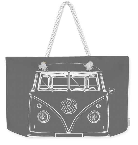 Vw Van Graphic Artwork Tee White Weekender Tote Bag
