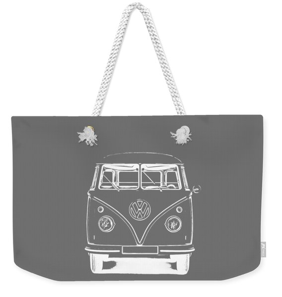 Vw Van Graphic Artwork Tee White Weekender Tote Bag