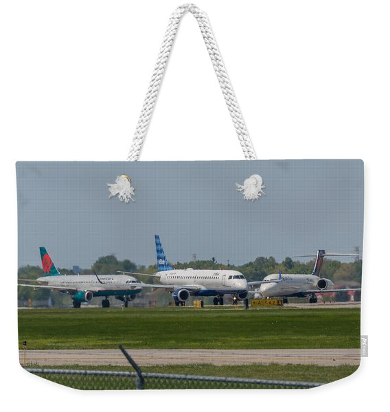 Vying For Position Weekender Tote Bag