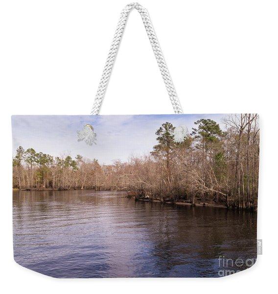 Waccamaw River In Winter Weekender Tote Bag