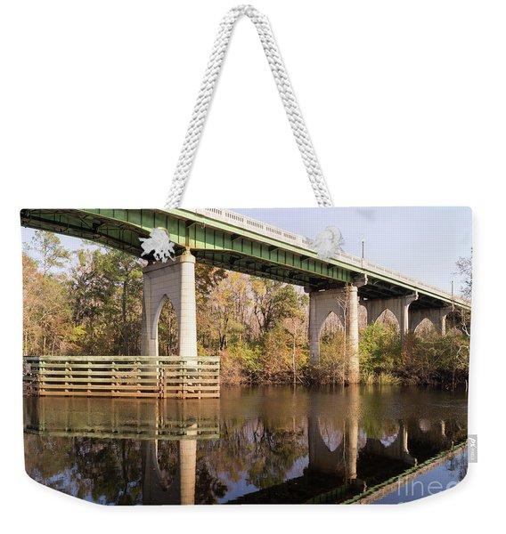 Wacccamaw Memorial Bridge Autumn Afternoon Weekender Tote Bag