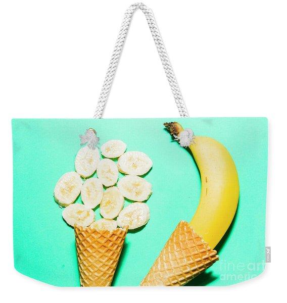 Waffle Cones With Fresh Banana Weekender Tote Bag