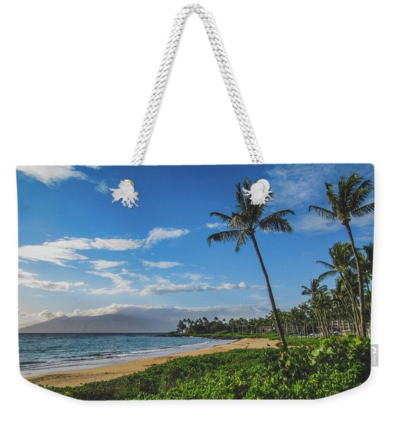 Weekender Tote Bag featuring the photograph Wailea Beach by Andy Konieczny