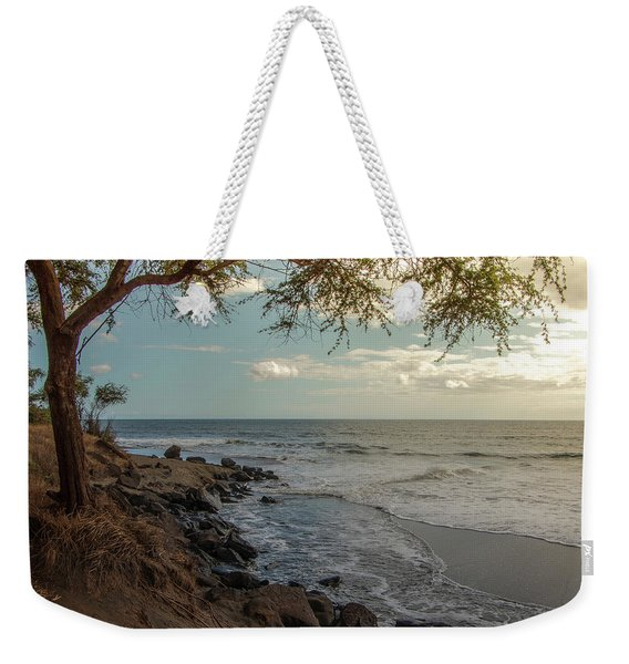 Waimea Bay Sunset Weekender Tote Bag