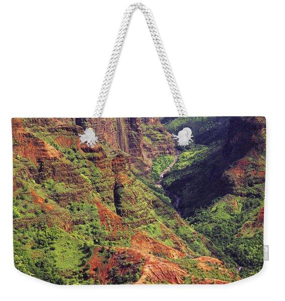 Waimea Canyon Aerial Weekender Tote Bag