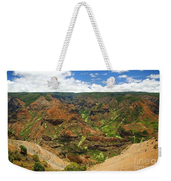 Waimea Canyon And Blue Sky Weekender Tote Bag
