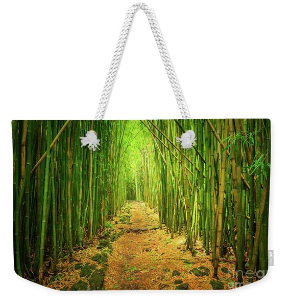 Waimoku Bamboo Forest Weekender Tote Bag