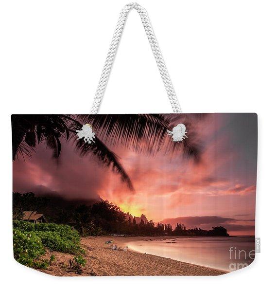 Wainiha Kauai Hawaii Bali Hai Sunset Weekender Tote Bag