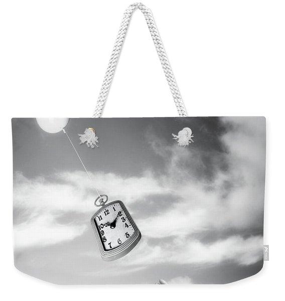 Wait A Minute Weekender Tote Bag
