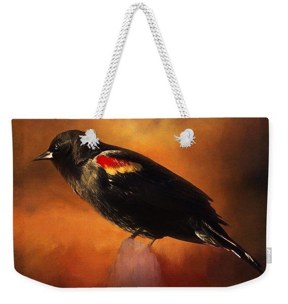 Waiting - Bird Art Weekender Tote Bag
