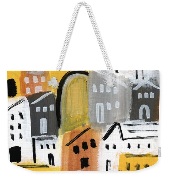 Waiting For Autumn- Expressionist Art Weekender Tote Bag