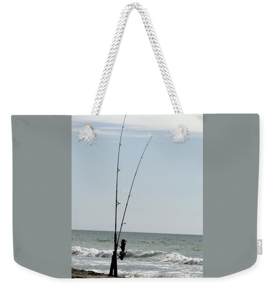 Waiting For The Bait Weekender Tote Bag