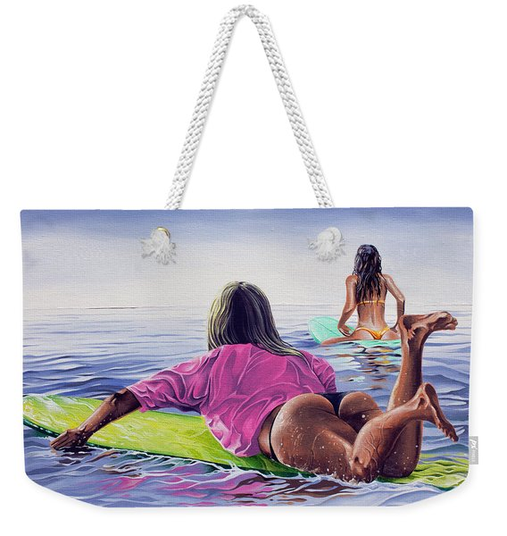 Waiting For The Sun Weekender Tote Bag