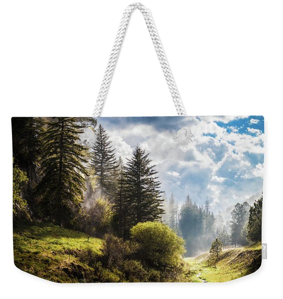 Waiting Out The Rain Weekender Tote Bag