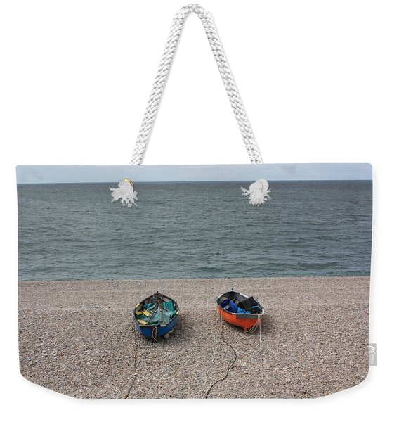 Waiting To Go To Sea Weekender Tote Bag