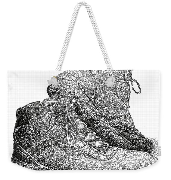 Walk A Mile In My Shoes-john Casanover Ms Project Weekender Tote Bag