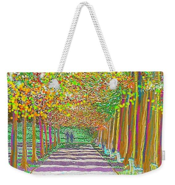Walk In Park Cathedral Weekender Tote Bag