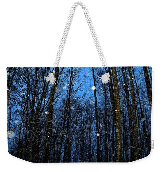 Walk In The Snowy Woods Weekender Tote Bag