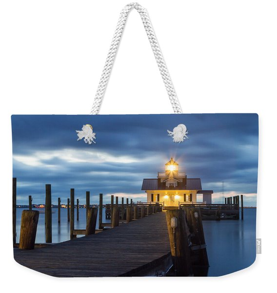 Walk To Roanoke Marshes Lighthouse Weekender Tote Bag