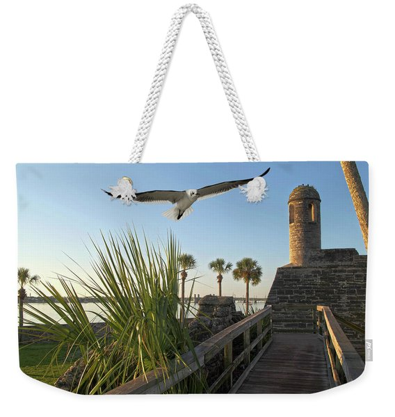 Walk To The Fort Weekender Tote Bag