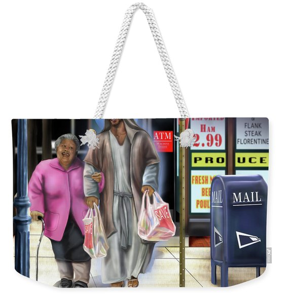 Walking By Faith Weekender Tote Bag