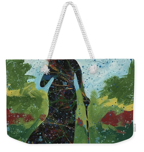 Walking In Central Weekender Tote Bag