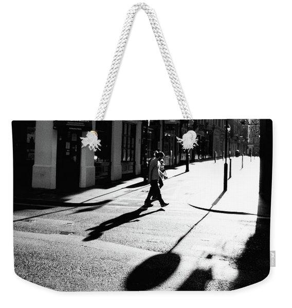 Walking In London Weekender Tote Bag