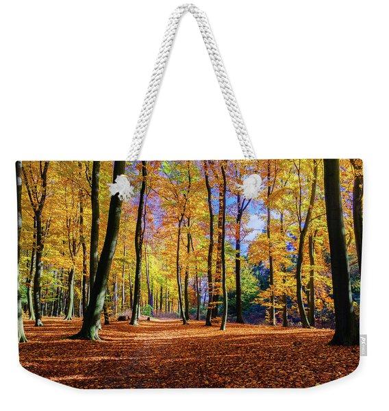 Walking In The Golden Woods Weekender Tote Bag