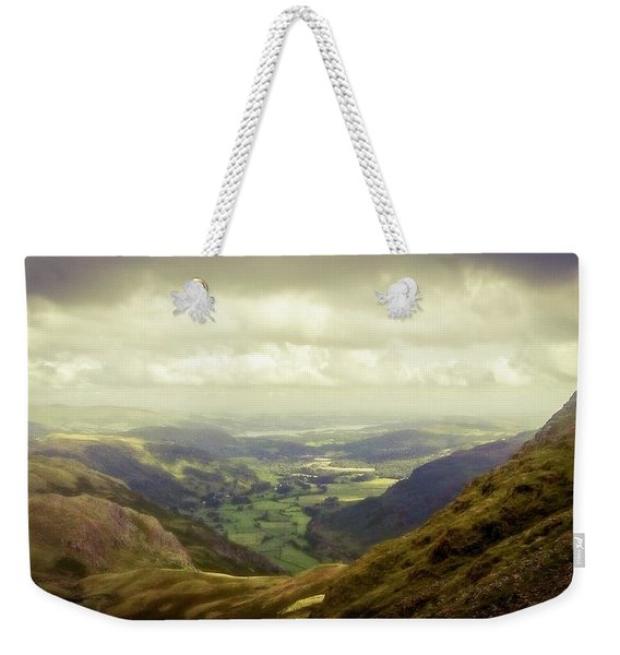 Walking In The Mountains, Lake District, Weekender Tote Bag