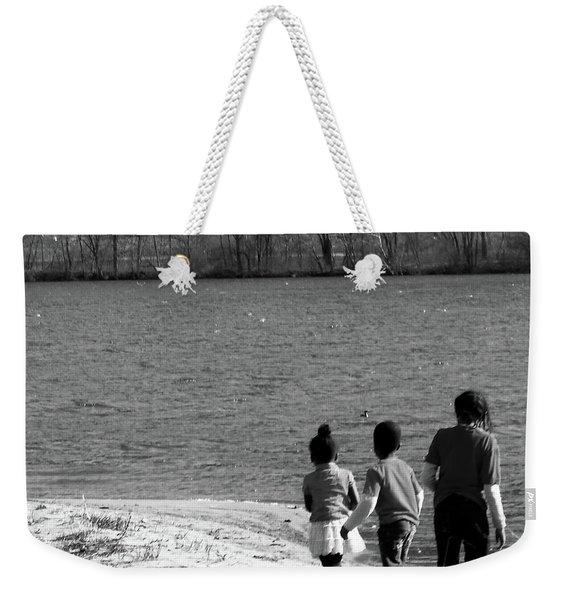 Walking In The Sand Weekender Tote Bag
