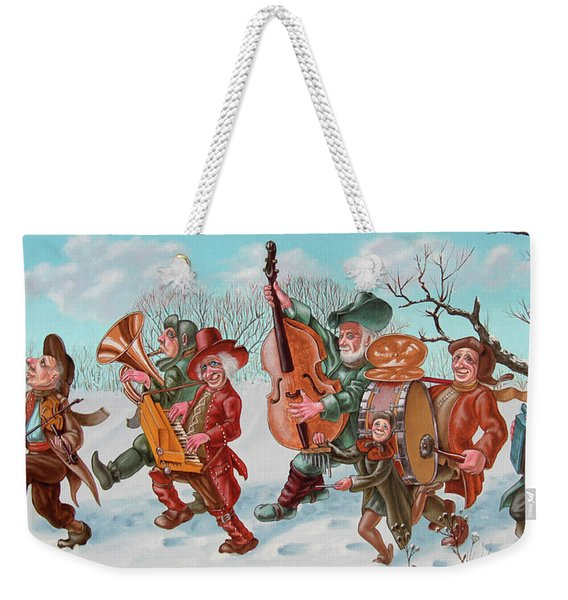 Walking Musicians Weekender Tote Bag