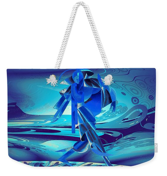 Walking On A Stormy Beach Weekender Tote Bag