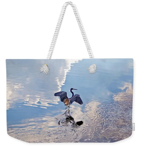 Weekender Tote Bag featuring the photograph Walking On Water by Carolyn Marshall