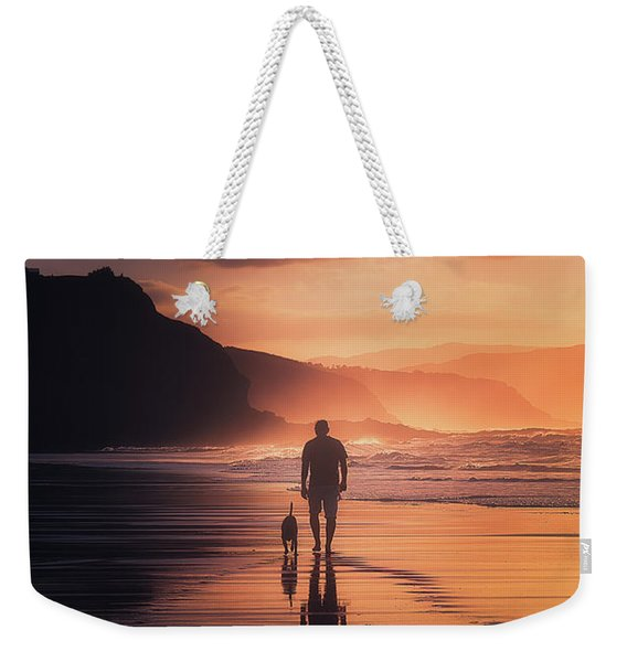 Walking The Dog Weekender Tote Bag