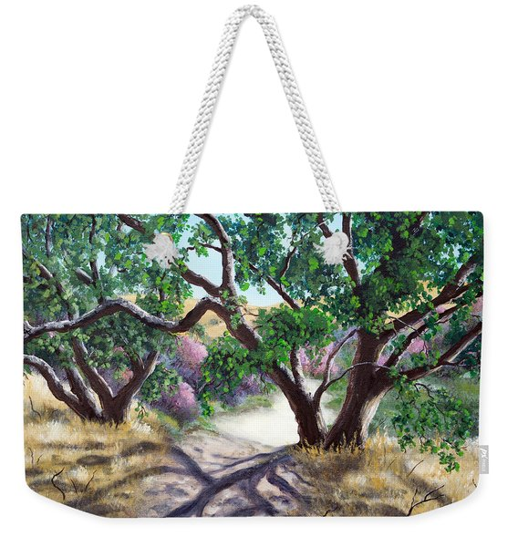 Walking Through The Oak Trees On A Sunny Day Weekender Tote Bag
