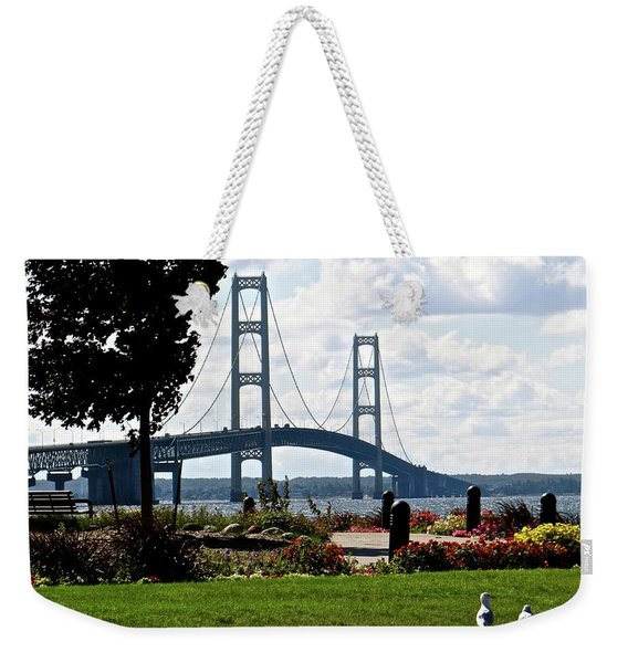 Walking To The Bridge Weekender Tote Bag