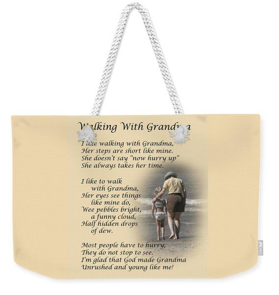 Walking With Grandma Weekender Tote Bag
