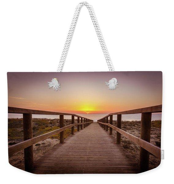 Walkway To The Sunrise Weekender Tote Bag