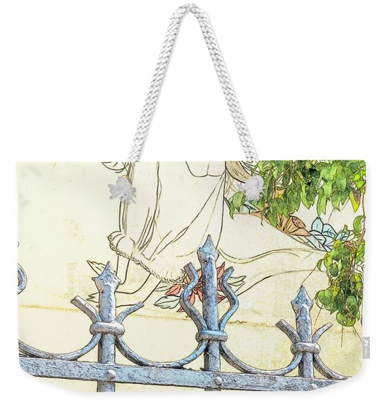 Wall Painting And Wrought Iron Fence Weekender Tote Bag