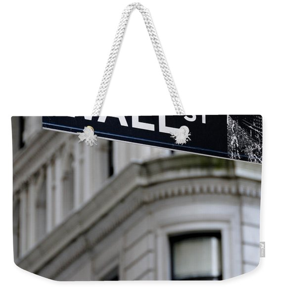 Wall Street New York City Financial District Weekender Tote Bag