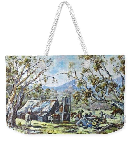 Wallace Hut, Australia's Alpine National Park. Weekender Tote Bag