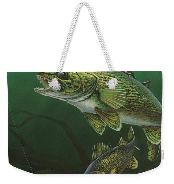 Walleye Weekender Tote Bag