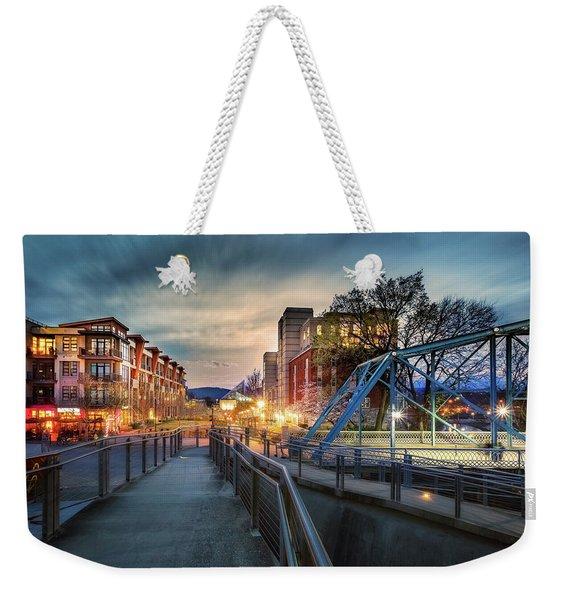 Walnut Street Circle Sunset Weekender Tote Bag
