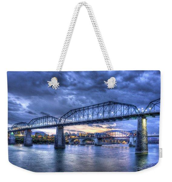 Walnut Street Pedestrian Bridge Chattanooga Tennessee Weekender Tote Bag