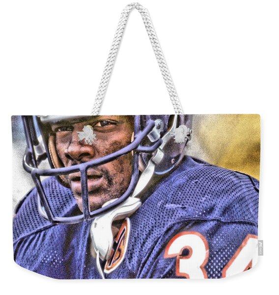 Walter Payton Chicago Bears Art Weekender Tote Bag