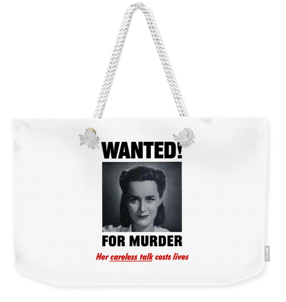 Housewife Wanted For Murder - Ww2 Weekender Tote Bag