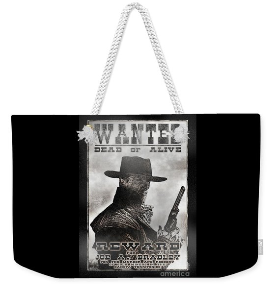 Wanted Poster Notorious Outlaw Weekender Tote Bag