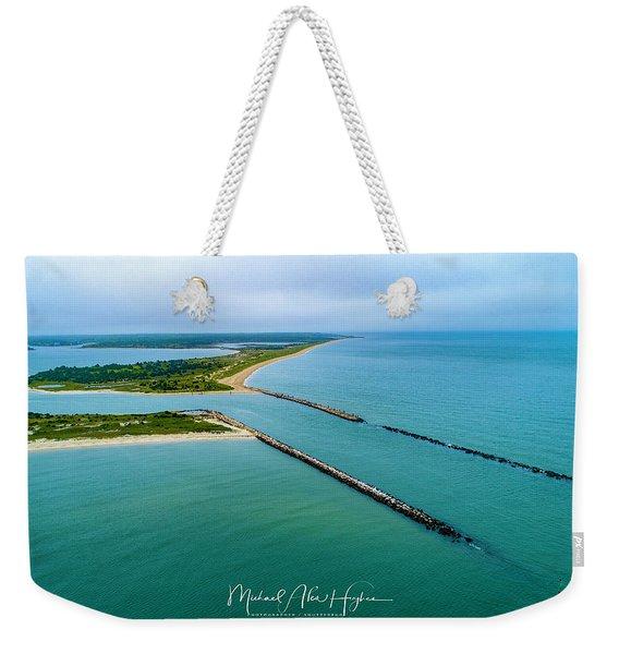 Waquiot Bay Breakwater Weekender Tote Bag