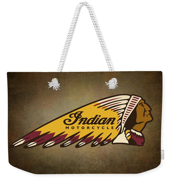 War Bonnet Indian Motorcycle Vintage Logo Weekender Tote Bag